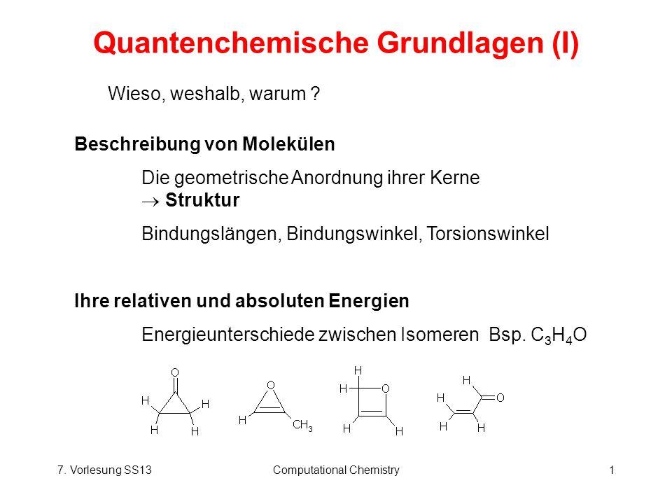 Quantenchemische Grundlagen (I)