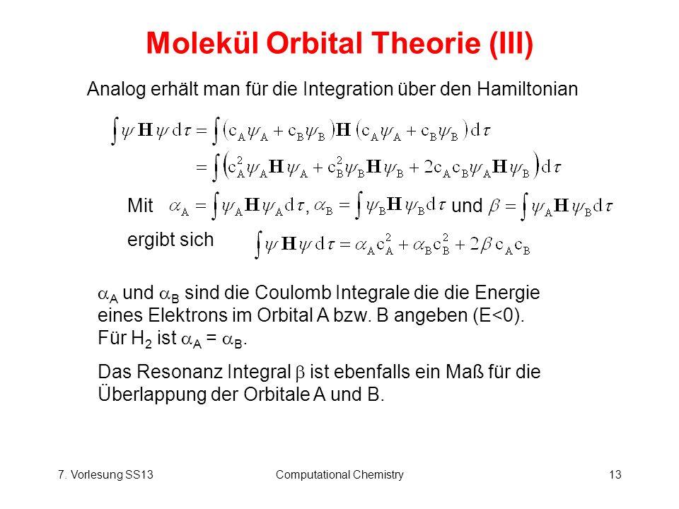 Molekül Orbital Theorie (III)