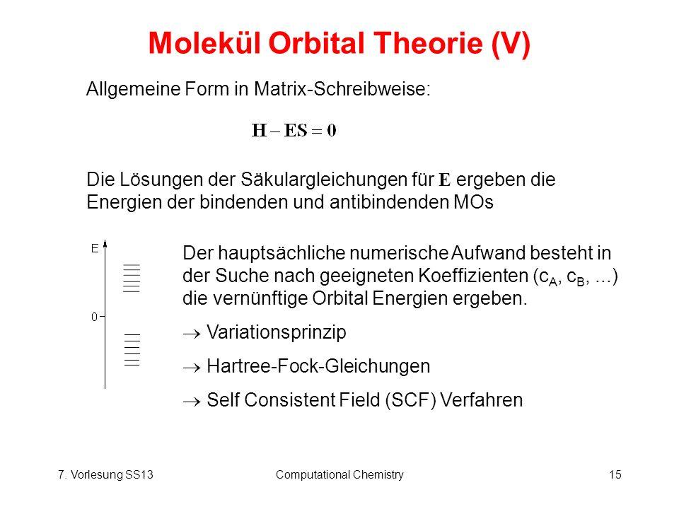 Molekül Orbital Theorie (V)