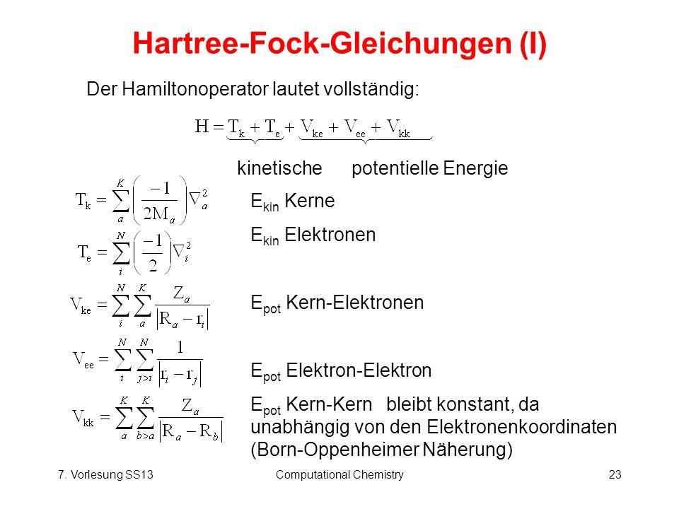 Hartree-Fock-Gleichungen (I)