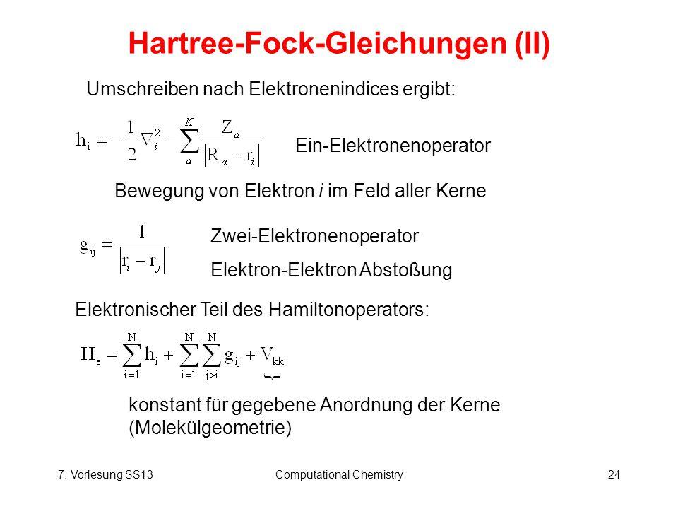 Hartree-Fock-Gleichungen (II)