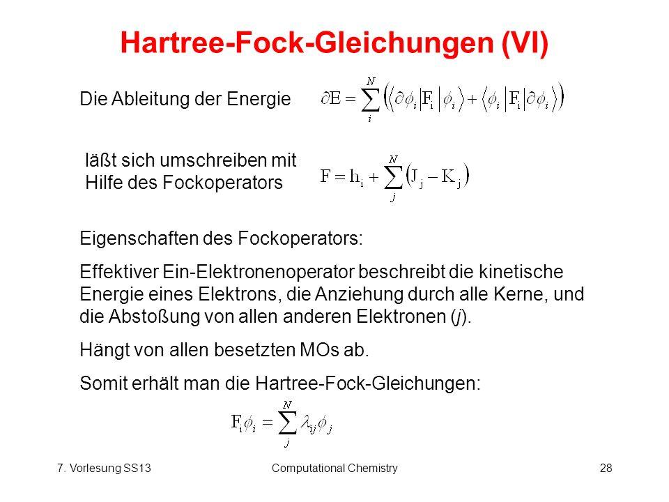 Hartree-Fock-Gleichungen (VI)