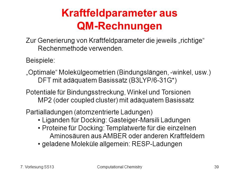 Kraftfeldparameter aus QM-Rechnungen