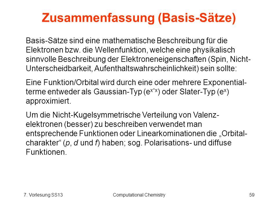 Zusammenfassung (Basis-Sätze)