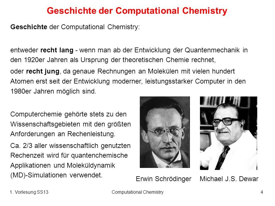 Geschichte der Computational Chemistry