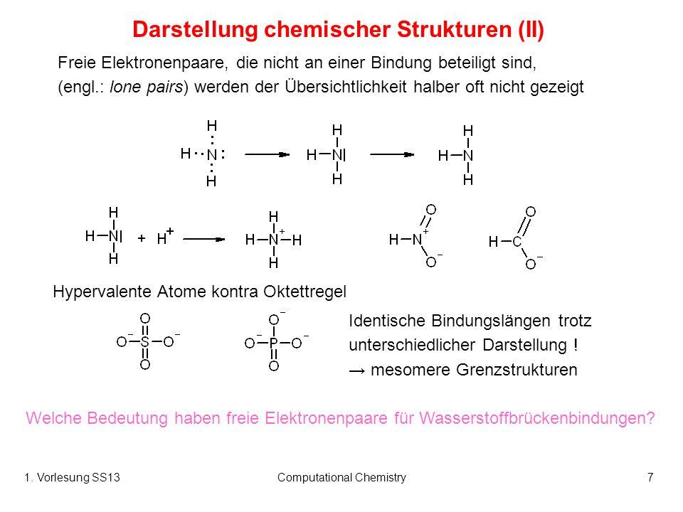 Darstellung chemischer Strukturen (II)