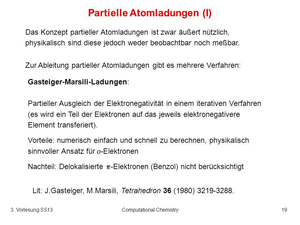 Partielle Atomladungen (I)