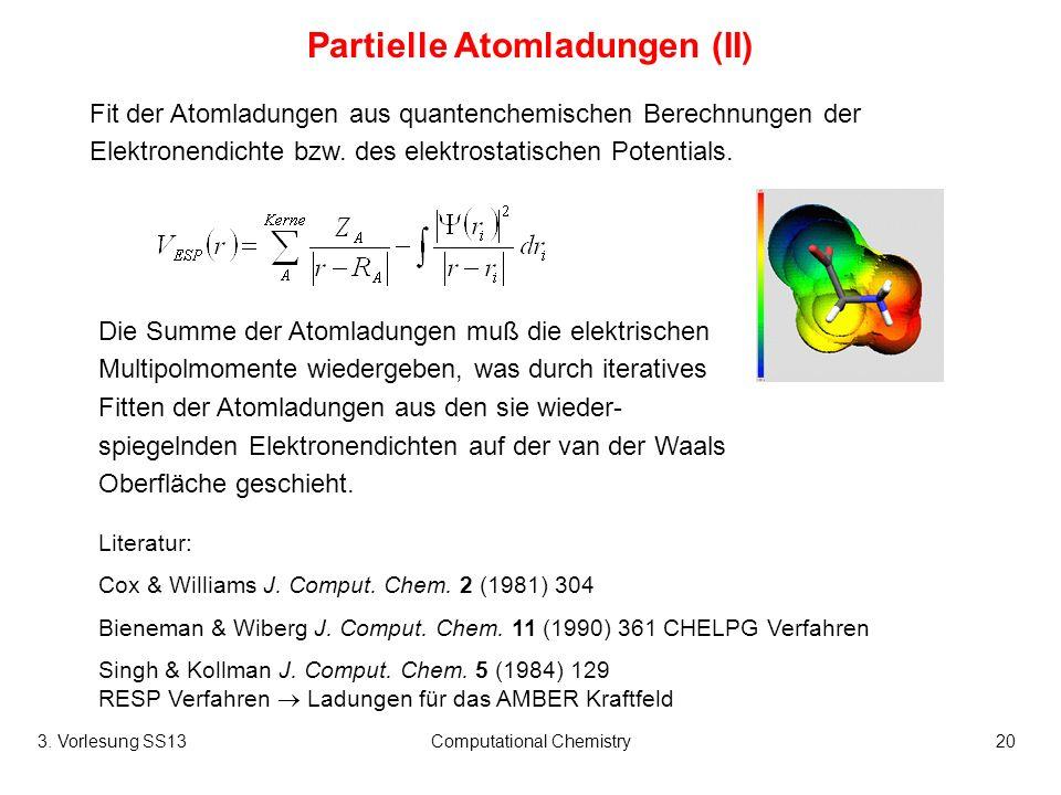 Partielle Atomladungen (II)