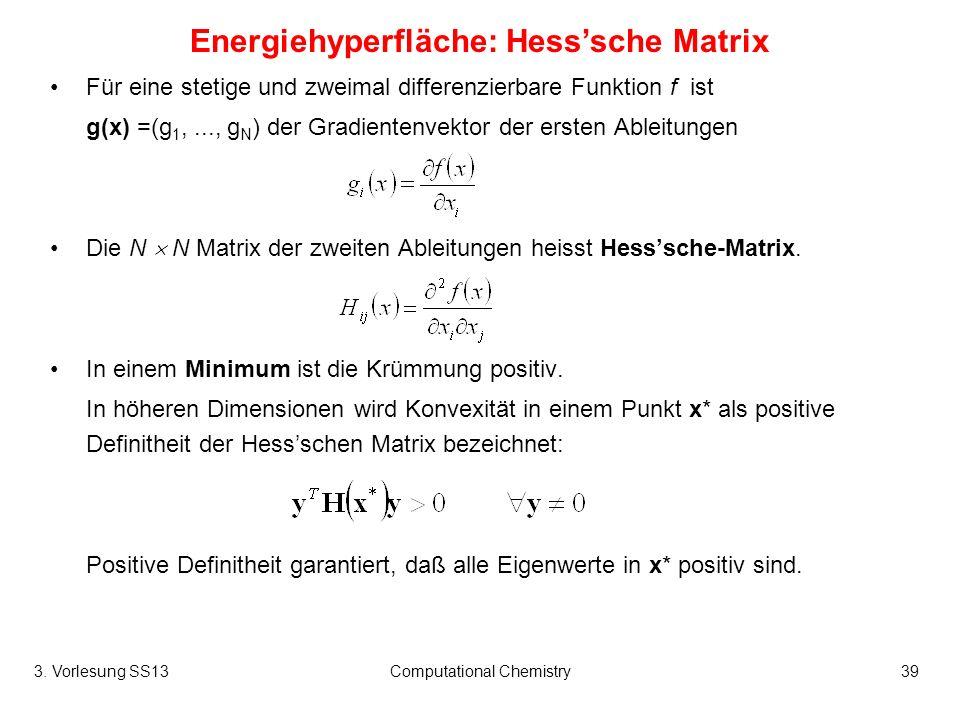 Energiehyperfläche: Hess'sche Matrix