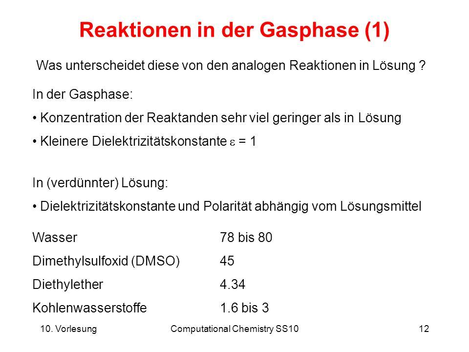 Reaktionen in der Gasphase (1)