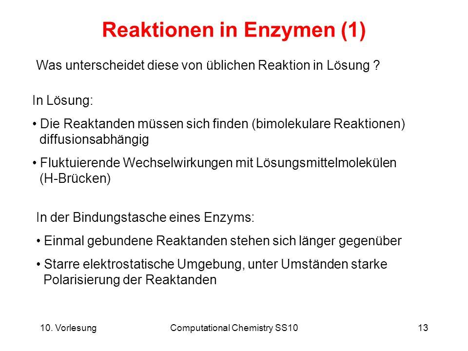 Reaktionen in Enzymen (1)