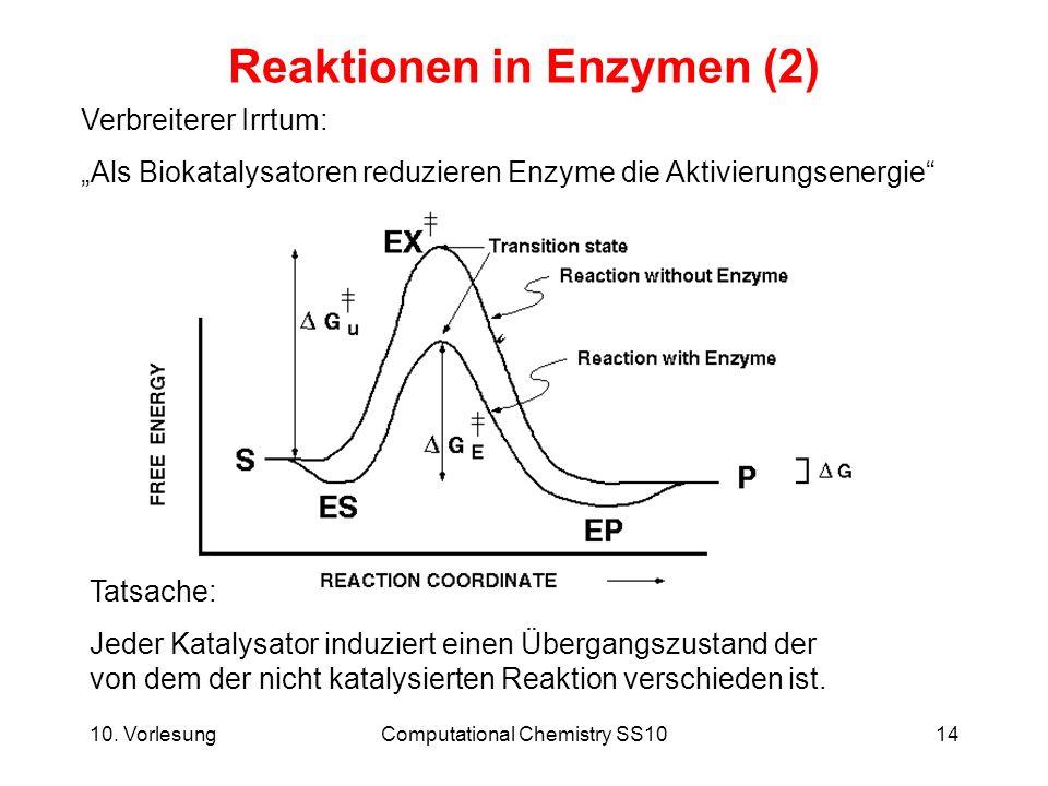 Reaktionen in Enzymen (2)
