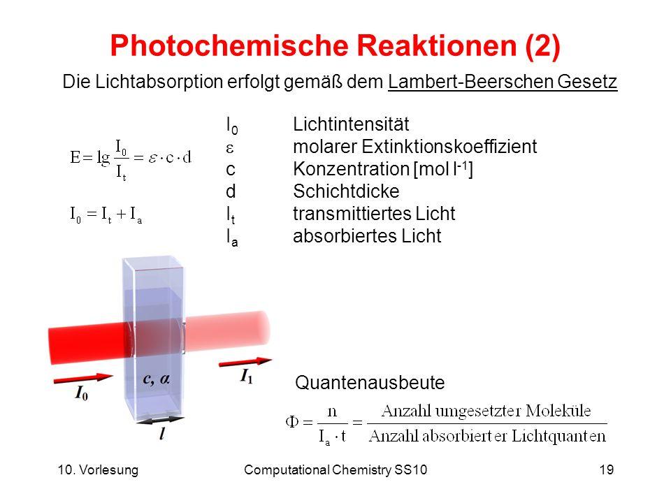 Photochemische Reaktionen (2)