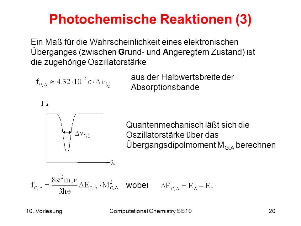 Photochemische Reaktionen (3)