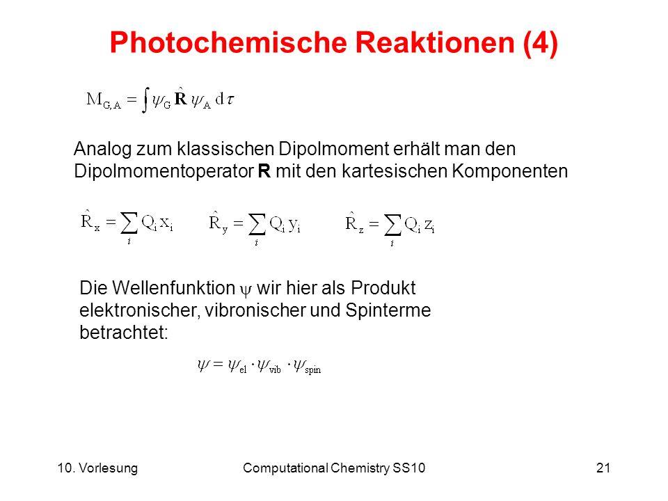 Photochemische Reaktionen (4)