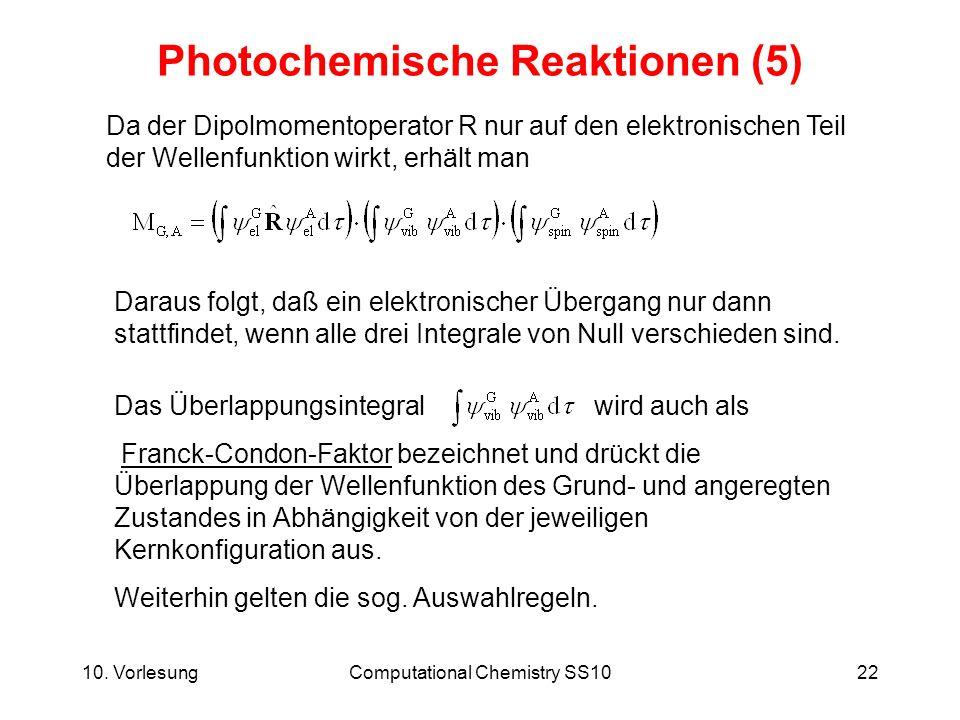 Photochemische Reaktionen (5)