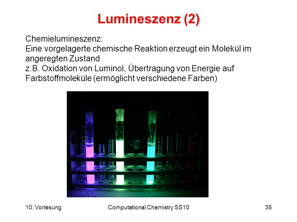 Computational Chemistry SS10