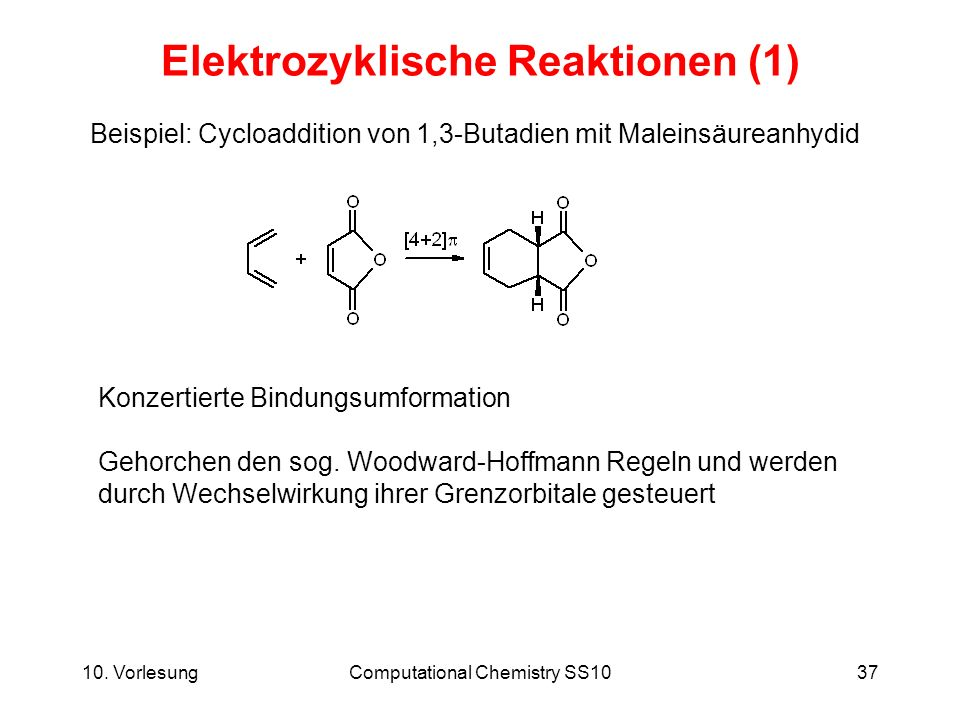Elektrozyklische Reaktionen (1)