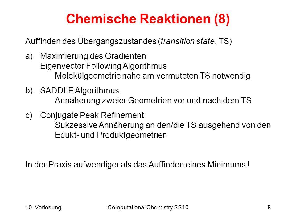 Chemische Reaktionen (8)