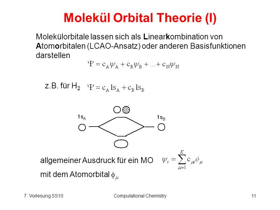 Molekül Orbital Theorie (I)