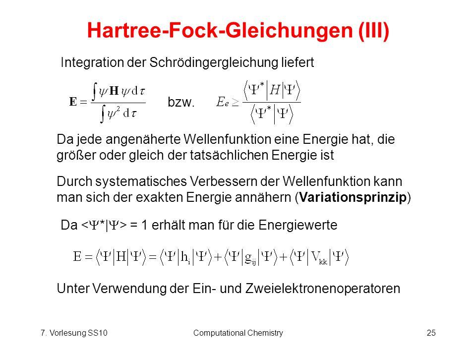 Hartree-Fock-Gleichungen (III)