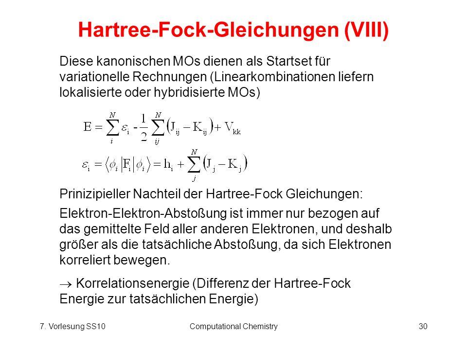 Hartree-Fock-Gleichungen (VIII)