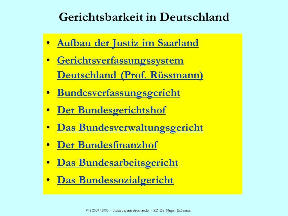 Gerichtsbarkeit in Deutschland
