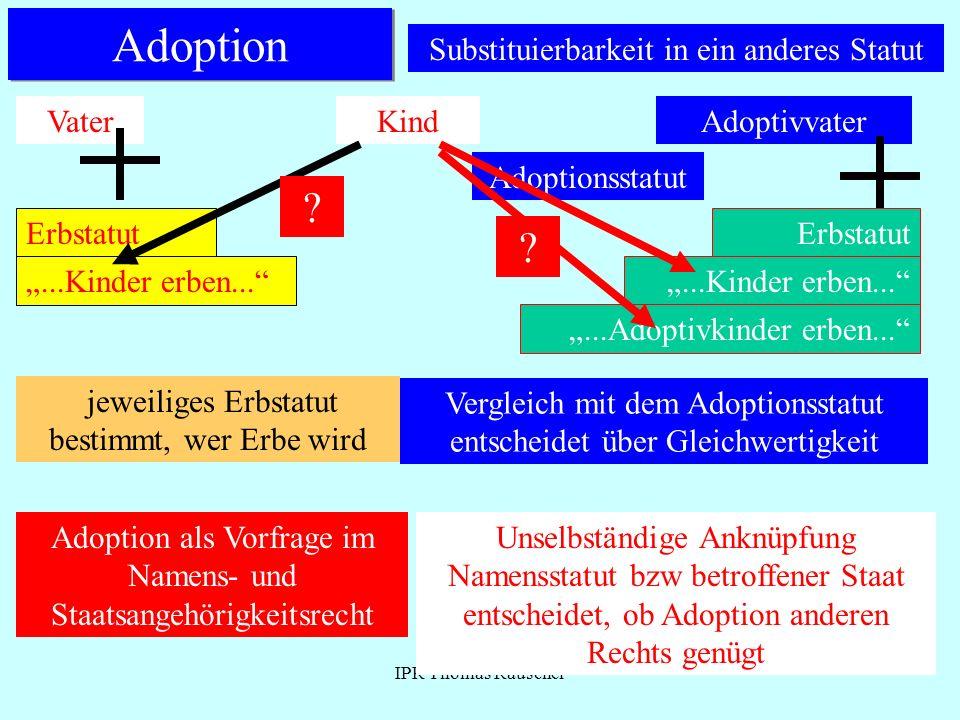 Adoption Substituierbarkeit in ein anderes Statut Vater Kind