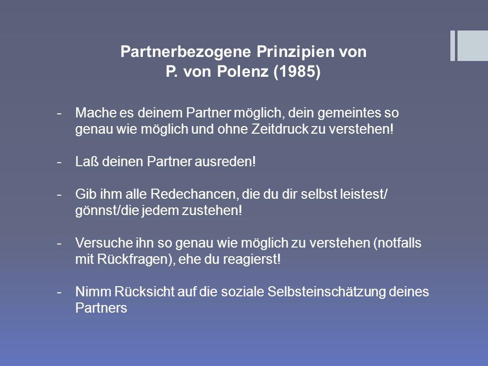 Partnerbezogene Prinzipien von