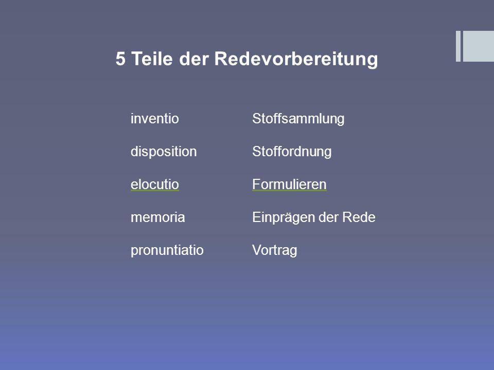 5 Teile der Redevorbereitung