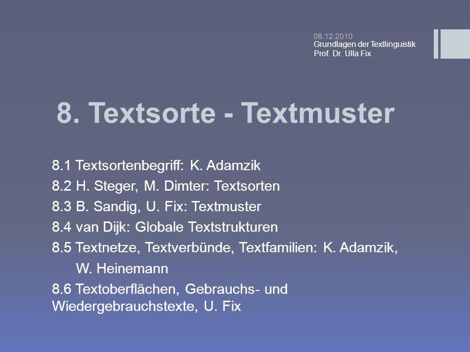 8. Textsorte - Textmuster