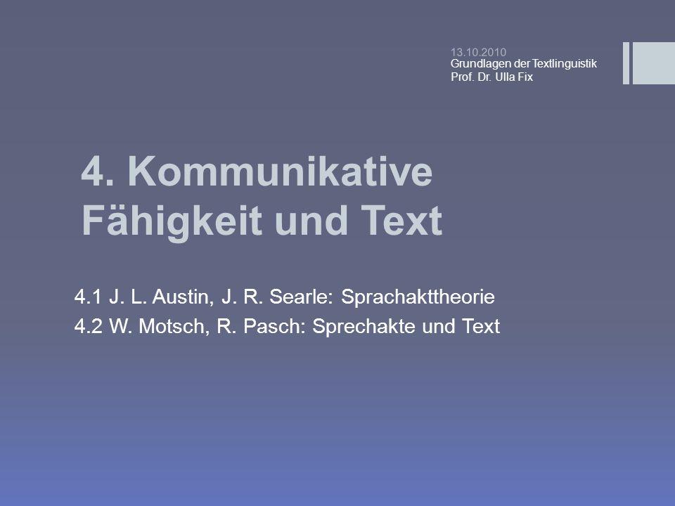 4. Kommunikative Fähigkeit und Text