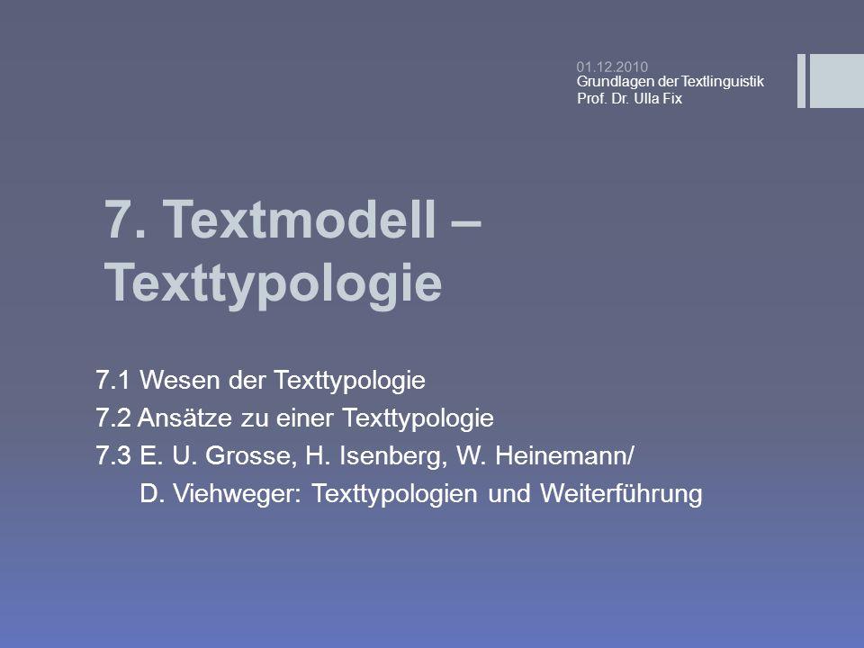 7. Textmodell – Texttypologie