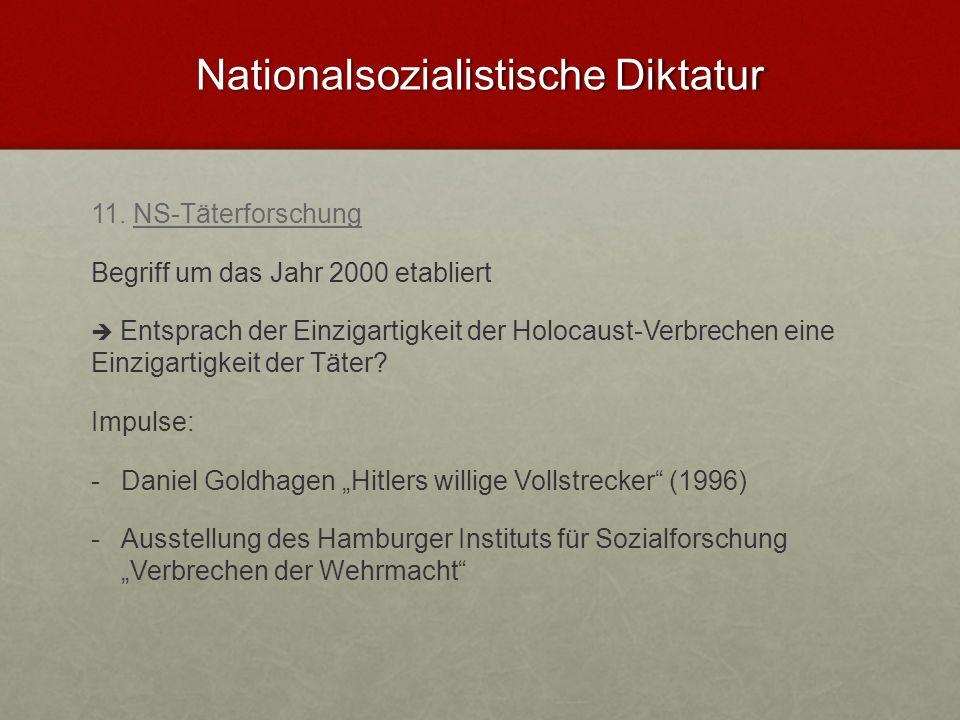 Nationalsozialistische Diktatur