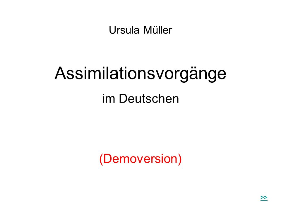 Assimilationsvorgänge