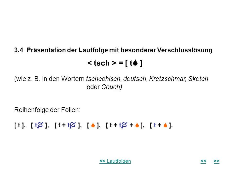 3.4 Präsentation der Lautfolge mit besonderer Verschlusslösung