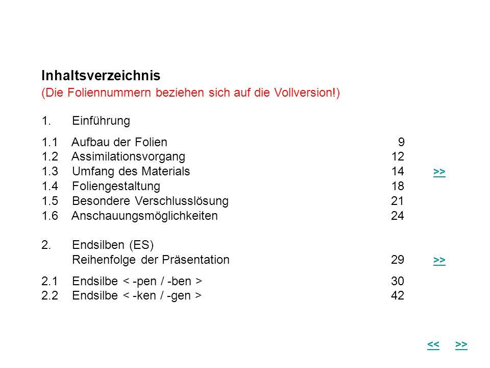 Inhaltsverzeichnis(Die Foliennummern beziehen sich auf die Vollversion!) 1. Einführung. 1.1 Aufbau der Folien 9.