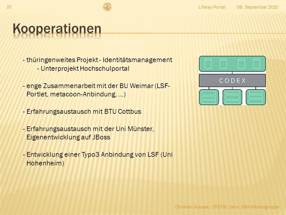 Kooperationen thüringenweites Projekt - Identitätsmanagement