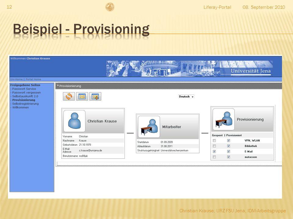 Beispiel - Provisioning