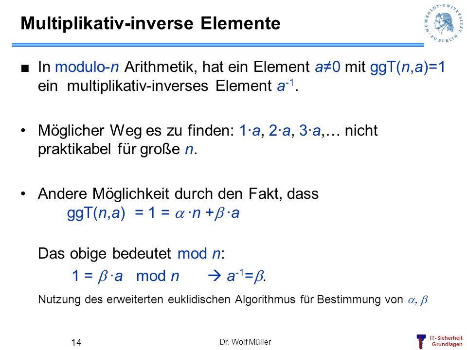 Multiplikativ-inverse Elemente