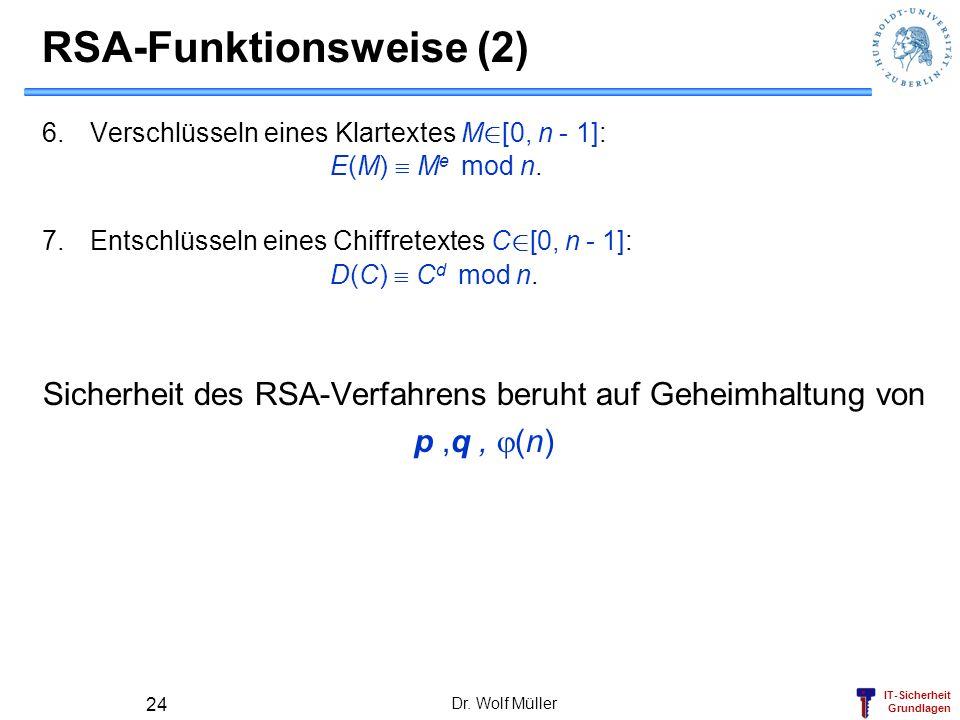 RSA-Funktionsweise (2)