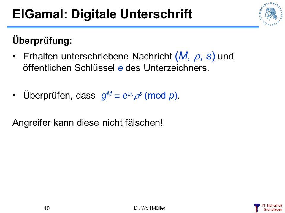 ElGamal: Digitale Unterschrift
