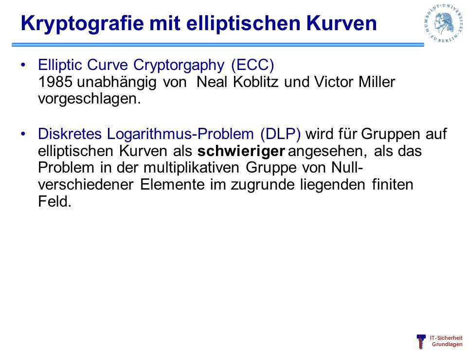 Kryptografie mit elliptischen Kurven