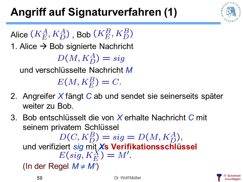 Angriff auf Signaturverfahren (1)