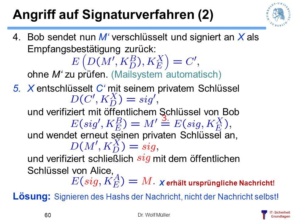 Angriff auf Signaturverfahren (2)