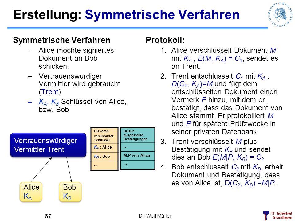 Erstellung: Symmetrische Verfahren