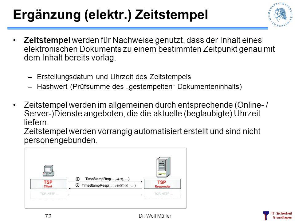 Ergänzung (elektr.) Zeitstempel