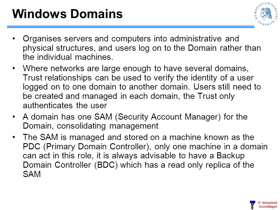 Windows Domains