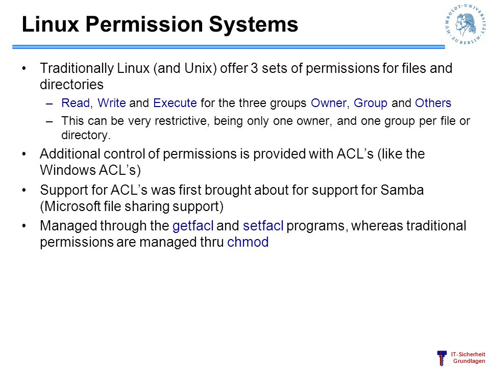Linux Permission Systems