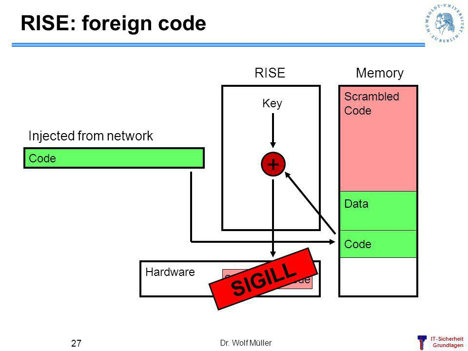 + RISE: foreign code SIGILL RISE Memory Injected from network